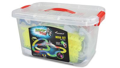 Magic Traxx Racebaan 373-delig, glow in the dark