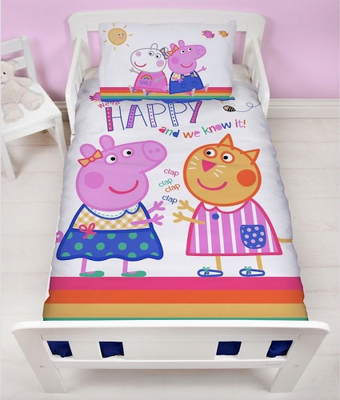 Peppa Pig peuter dekbedovertrek