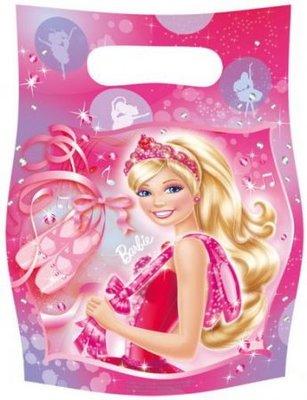 Barbie feestzakjes ballerina, 6 st