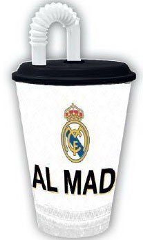 Real Madrid drinkbeker met rietje