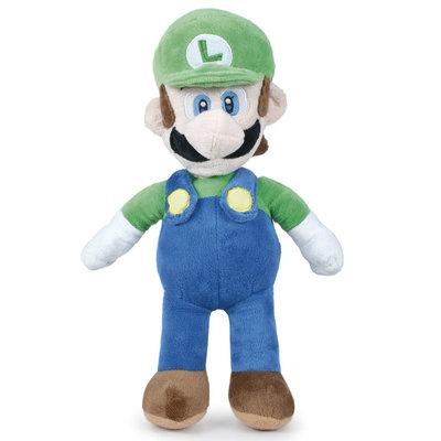 Super Mario Bros knuffel Luigi 20 cm