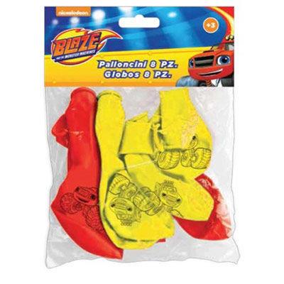 Blaze en de Monsterwielen ballonnen, 8 st