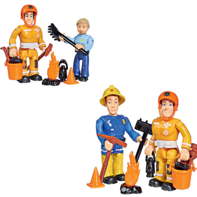 Brandweerman Sam poppetjes, Penny, Elvis, Sam en Arnold