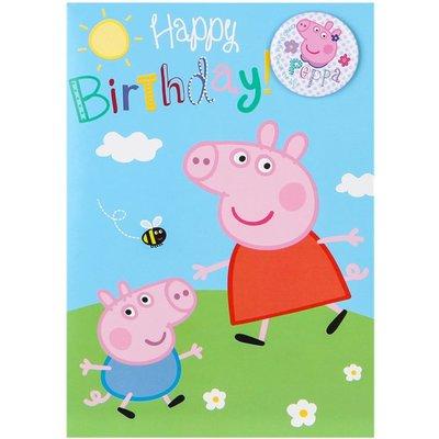 Peppa Pig verjaardagskaart