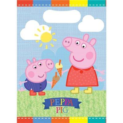 Peppa Pig uitdeelzakjes, 8 st.