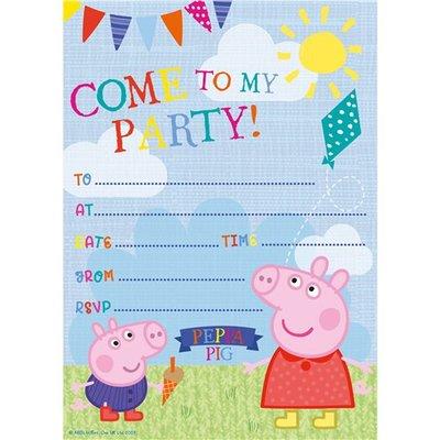 Peppa Pig uitnodigingen 20 st.