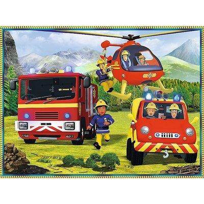 Brandweerman sam 2 x puzzel  en 1 x  memo