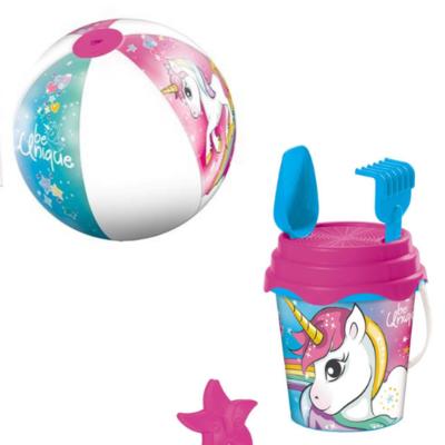 Unicorn emmerset, 5 delig + strandbal