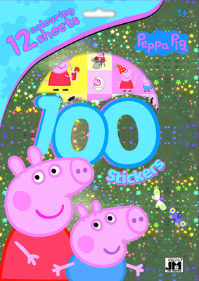 Peppa Pig kleurplaten set met stickers + stickerboekje
