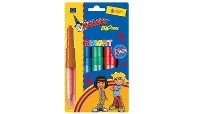Blopens Bright, 5 st blaastiften + Sjablonenset B, Fantasy