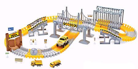 Magic Traxx bouwplaats 160-delig met voertuig