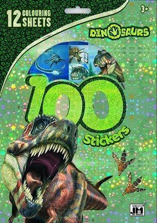 Dinosaurussen  kleurplaten set met stickers