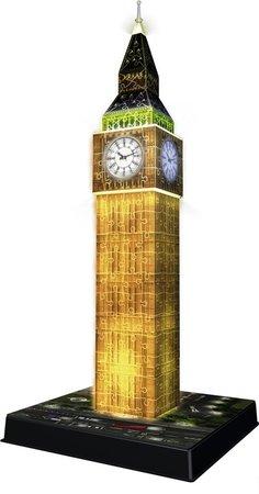 Big Ben 3D puzzel - night edition - 216 stukjes