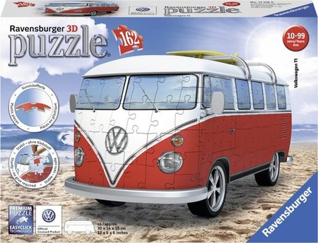 Volkswagen bus T1 bulli - 3D puzzel - 162 stukjes