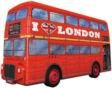 London Bus - 3D puzzel - 216 stukjes