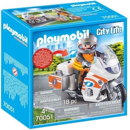 Playmobil City Life - Spoedarts op motor - 70051