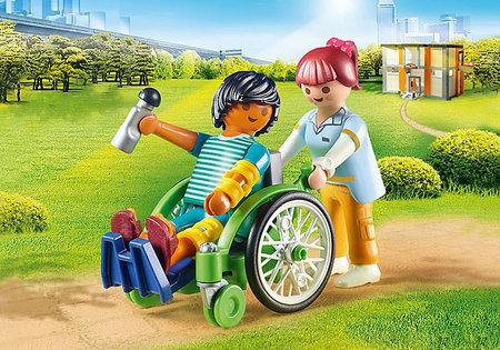 Playmobil City Life - Patient in rolstoel - 70193