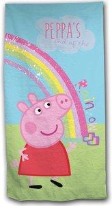 Peppa Pig strandlaken - regenboog