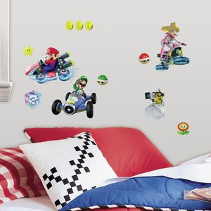 Super Mario Bros muurstickers - RoomMates -  Mario Kart