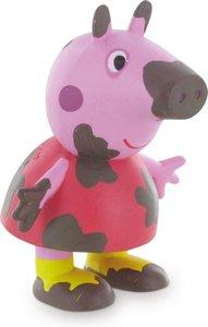 Peppa Pig - Peppa on the mud - speelfiguur