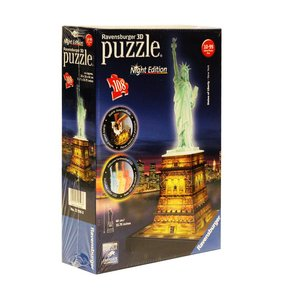 Statue of Liberty Night Edition 3D puzzel - night edition - 108 stukjes