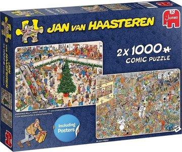 Jan van Haasteren - Holiday Shopping  - Puzzel 2 x 1000 Stukjes
