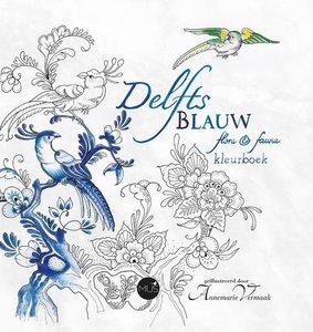 kleurboek voor volwassenen - Delfts blauw flora en fauna