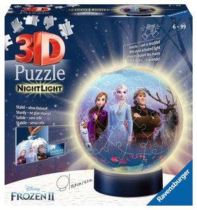 RAVENSBURGER - Frozen 2 The Snow Queen 2 3D-ronde puzzel 72 stukjes verlicht