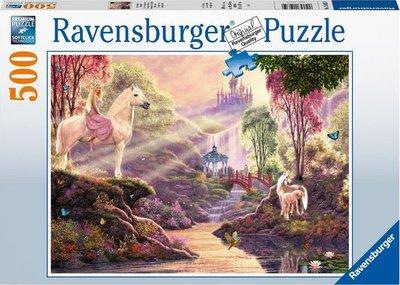 Ravensburger puzzel - Sprookjesachtige idylle bij het meer  - 500 stukjes