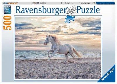 Ravensburger puzzel - Paard op het strand  - 500 stukjes