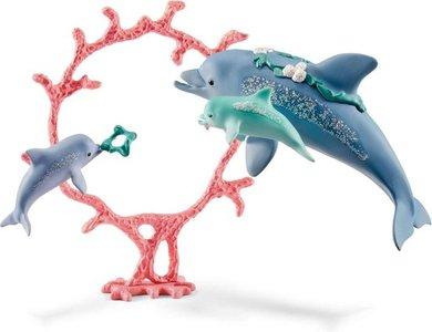 Schleich Bayala - Dolfijn moeder met kleintjes  - 41463