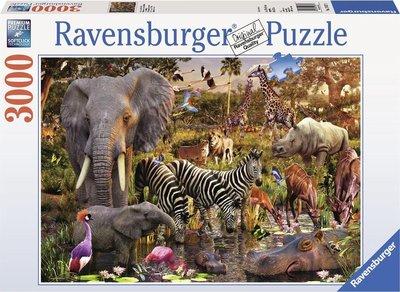 Ravensburger - Afrikaanse Dierenwereld - Puzzel - 3000 Stukjes