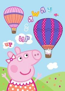 Peppa Pig fleecedeken  -  luchtballon