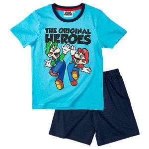 Super Mario Bros pyjama blauw